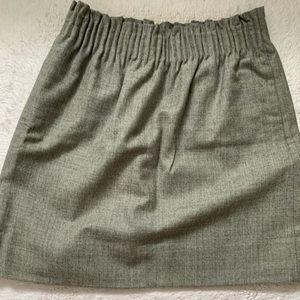 JCrew high waisted gray wool skirt